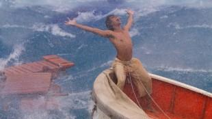 Pi (Suraj Sharma) i stormende omstendigheter i Historien om Pi (Foto: 20th Century Fox).