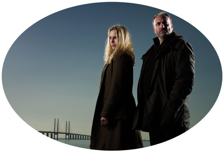 Saga Norén (Sofia Helin) og Martin Rohde (Kim Bodnia) i sesong 1 av Broen. Foto: Scanbox)
