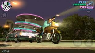 Kontrollene er lett tilgjengelege på skjermen vha. enkle ikoner – GTA: Vice City. (Foto: Rockstar Games)
