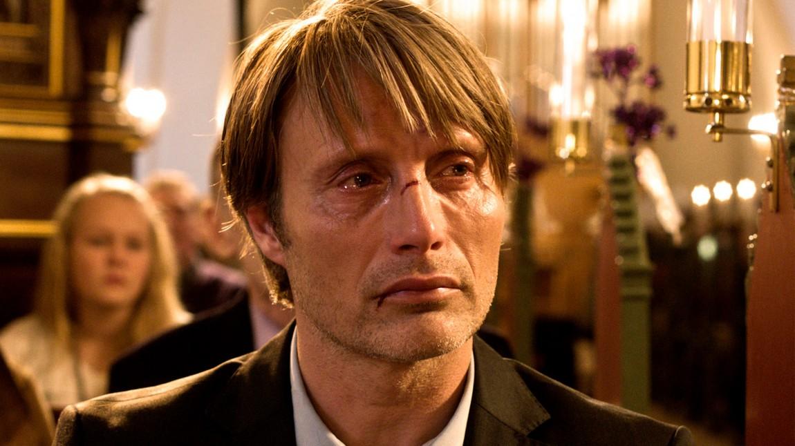 Mads Mikkelsen i «Jakten». (Foto: Nordisk Film Distribusjon AS)