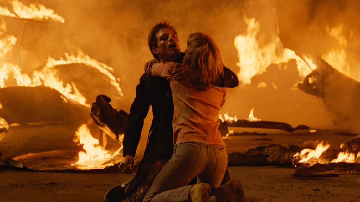 Lance Henriksen og Michael Biehn og Linda Hamilton i The Terminator (Foto: SF Norge AS).