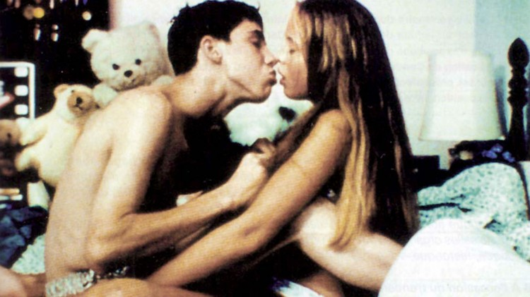 Telly (Leo Fitzpatrick) overbeviser en 12 år gammel jente om å ha sex med ham i filmen Kids. (Foto: Miramax Films).