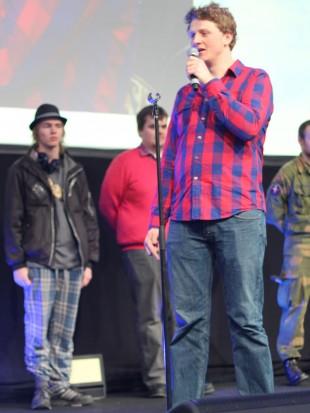 Erik Hvattum, vant Dragon's Den-konkurransen under The Gathering. (Foto: Marte Hedenstad, NRK P3).