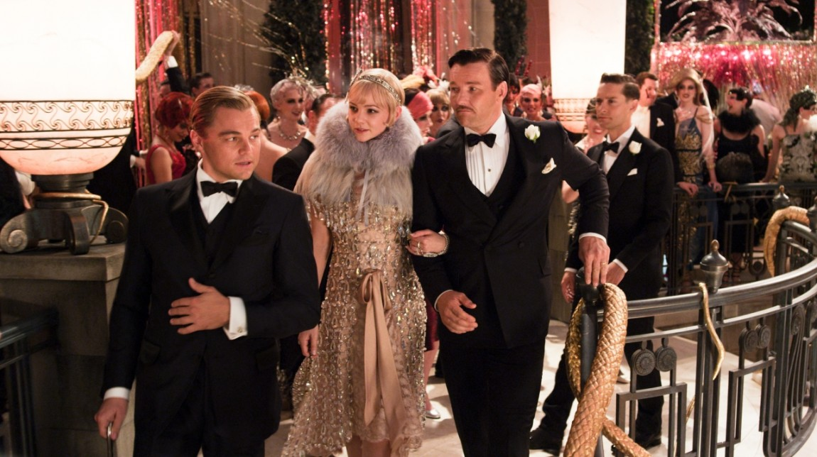Leonardi Dicaprio, Carey Mulligan og Joel Edgerton i «Great Gatsby». (Foto:Warner Bros. Pictures/ SF Norge AS)