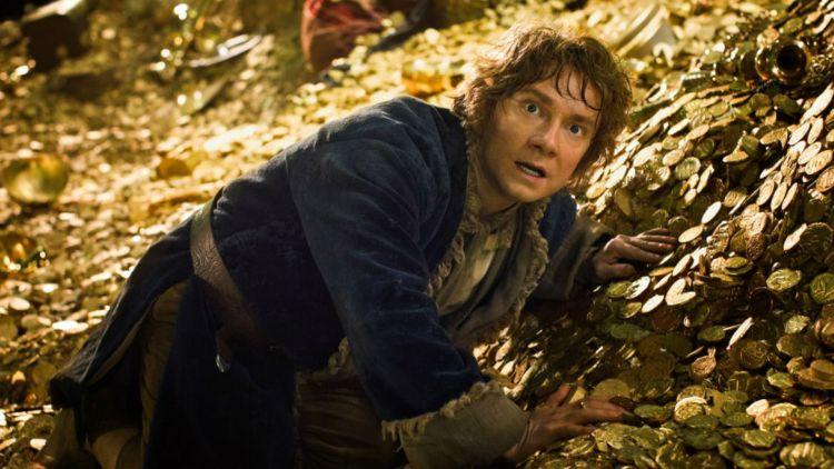 Martin Freeman som Bilbo når han møter Smaug. (Foto: Metro-Goldwyn-Mayer Pictures Inc. og New Line Productions, Inc.).