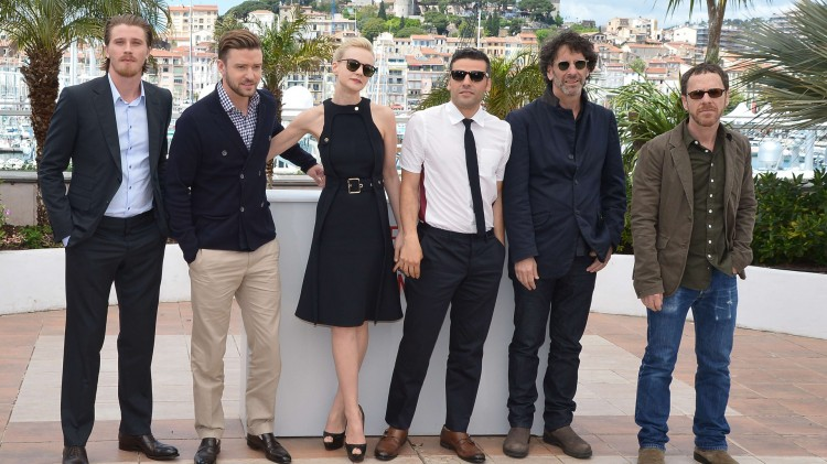 Garrett Hedlund, Justin Timberlake, Carey Mulligan, Oscar Isaac, Joel og Ethan Coen (Foto: AFP PHOTO / ALBERTO PIZZOLI).