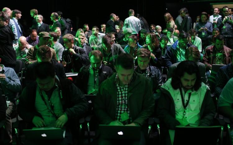 Frå innsida av Xbox Campus. (Foto: REUTERS/Nick Adams)