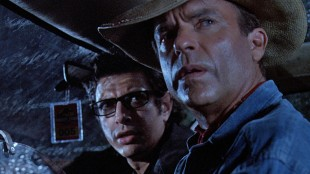 Jeff Goldblum og Sam Neill i Jurassic Park (Foto: United International Pictures).