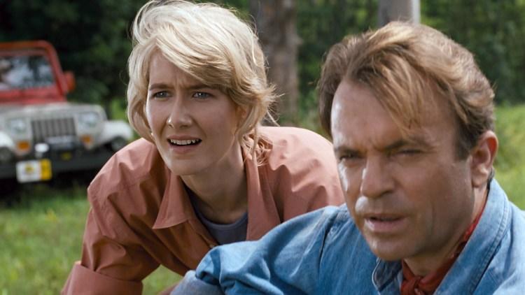 Laura Dern og Sam Neill i Jurassic Park (Foto: United International Pictures).