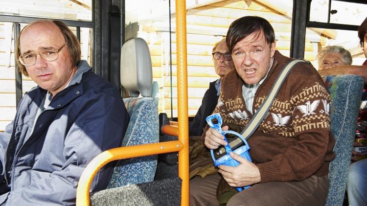 Karl Pilkington og Ricky Gervais har samarbeidet flere ganger, nå senest i Derek (Foto: Netflix).