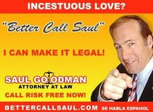 Eit lettare shady visittkort for Saul Goodman.