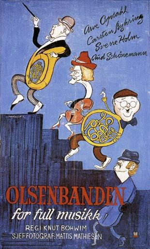 Filmplakat til «Olsenbanden for full musikk». (Foto: Nordisk Filmdistribusjon AS / Cinematekene)