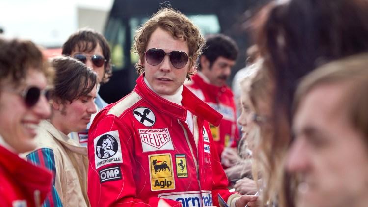 Daniel Brühl er perfekt i rollen som Niki Lauda i Rush (Foto: Norsk Filmdistribusjon).