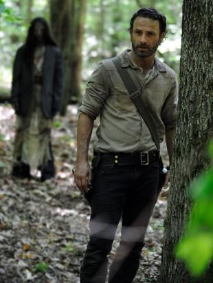 Andrew Lincoln i første episode av sesong fire av The Walking Dead. (Foto: Gene Page, AMC).