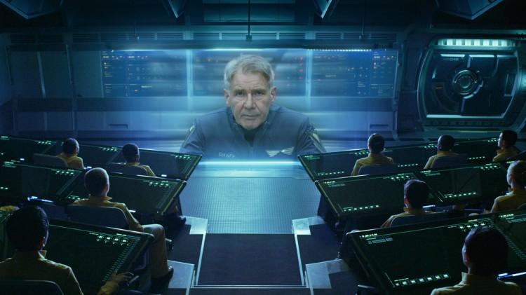 Harrison Ford virker uinteressert i Ender's Game (Foto: The Walt Disney Company Nordic).