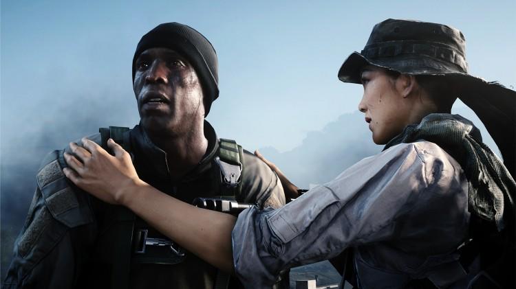 Fra venstre: Irish og Hannah, to sentrale personer i hovedhistorien til spillet. Skjermbilde fra «Battlefield 4». (Foto: EA / DICE)