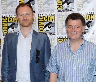 Mark Gatiss og Steven Moffat. (Foto: Ethan Miller/Getty Images/AFP)