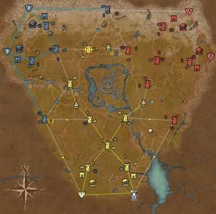 Kart over Cyrodiil i The Elder Scrolls Online. (Foto: Bethesda).