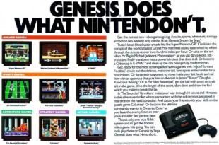 Steile fronter mellom Nintendo og Sega førte til skarpe omtaler av motstanderen i reklamer. (Foto: Sega)