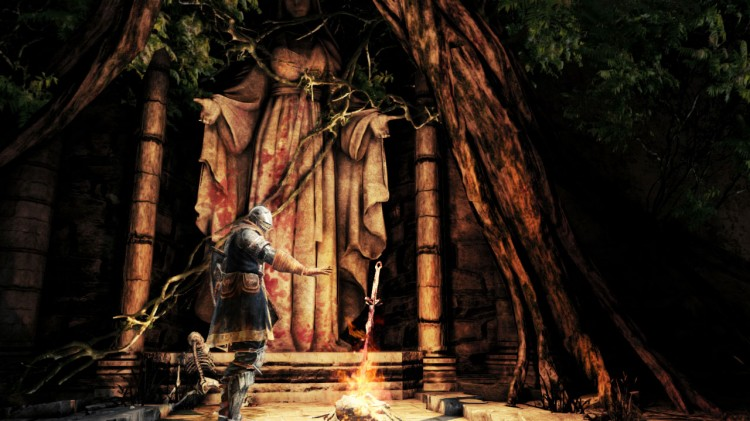 Bålplassen er en trygg havn for spillerne i Dark Souls II. (Foto: Namco Bandai).