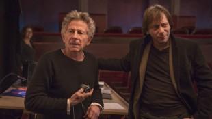 Regissør Roman Polanski og skuespiller Mathieu Amalric samarbeider i Venus In Fur (Foto: Nordisk Film Distribusjon AS).