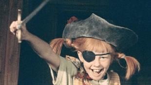Inger Nilsson i «Pippi Langstrømpe på de syv hav». (Foto: SF)