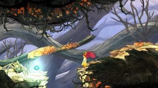 Den håndtegnede kvaliteten på omgivelsene er skyhøy. Skjermbilde fra «Child of Light». (Foto: Ubisoft Montreal)