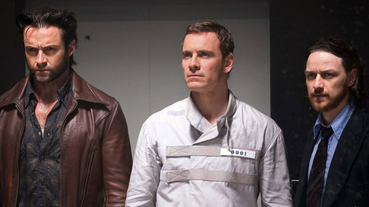 Hugh Jackman, Michael fassbender og James McAvoy i X-Men: Days of future Past. (Foto: Twentieth Century Fox Norway).
