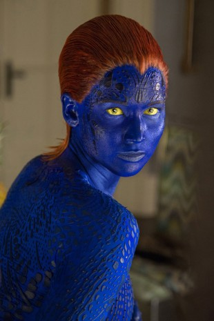 Jennifer Lawrence som Mystique. (Foto: Twentieth Century Fox Norway).