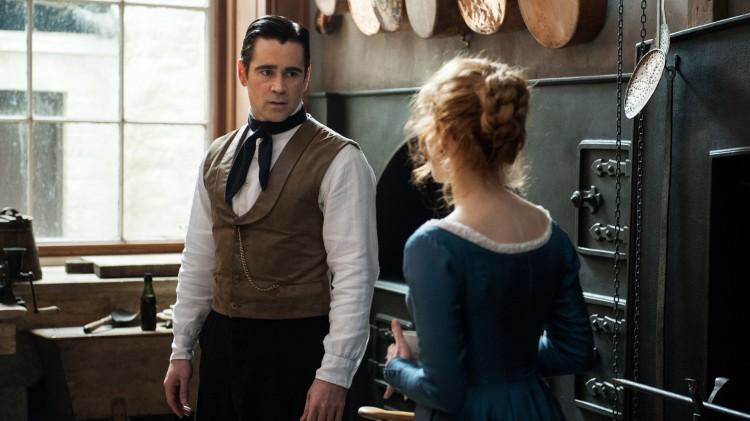 Sterke prestasjoner av både Colin Farrell og Jessica Chastain i Frøken Julie (Foto: Nordisk Film Distribusjon AS).