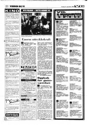 Anmeldelse av «I ungdommens makt» i VG den 17. september 1980. (Faksimile)