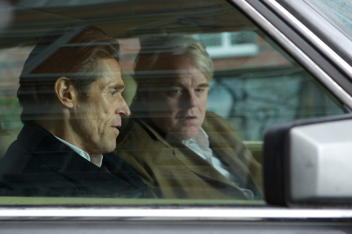 Willem Dafoe og Philip Seymour Hoffman i «A Most Wanted Man (Foto/Copyright: SF Norge)