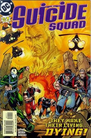 Suicide Squad har eksistert i flerer former i ulike blader siden 60-tallet. I 1987 kom det ut under eget navn, denne forsiden markerer starten på andre volum i 2001. (Foto: DC Comics)