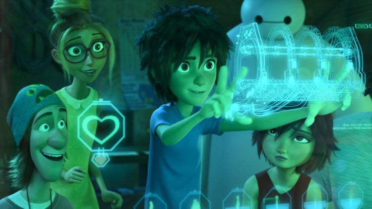 Fred, Honey Lemon, Hiro, Baymax og GoGo Tomago i Big Hero 6 (Foto: The Walt Disney Company Nordic).