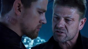 Channing Tatum som Caine og Sean Bean som Stinger i Jupiter Ascending (Foto: Warner Bros. Pictures/ SF Norge).