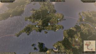 Kartet er stort og de dyktigste hærførerne kan gjenforene Europa. Bilde hentet fra «Total War: Attila». (Foto: SEGA)