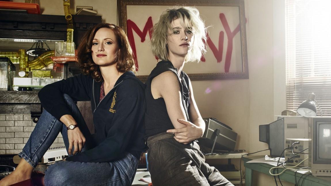 "Donna (Kerry Bishé) og Cameron (Mackenzie Davis) blir mer sentrale figurer i sesong 2 av ""Halt and Catch Fire"" (Foto: Frank Ockenfels, AMC, C More)"