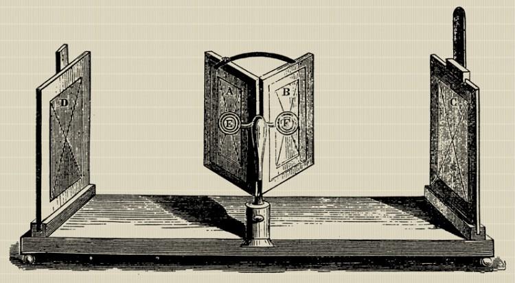 Det første stereoskopet ble laget av Charles Wheatstone allerede i 1938. (Foto: Creative Commons)
