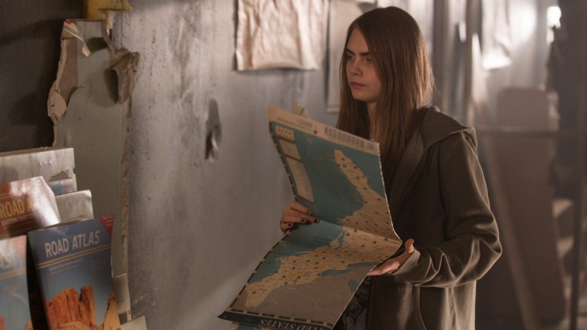 Paper Towns er et begrep karttegnere bruker byer som bare finnes på kartet.  Et fenomen som facinerer den søkende Margo. (Foto: Twentieth Century Fox Norway)