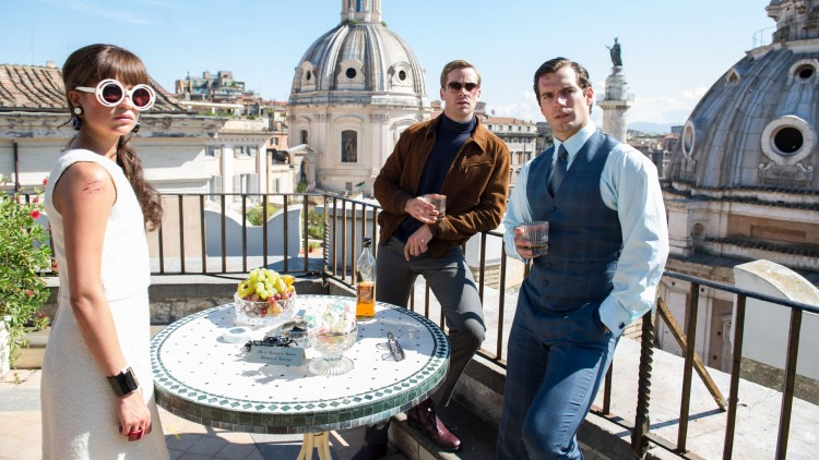 Gaby (Alicia Vikander), Illya (Armie Hammer) og Solo (Henry Cavill) blir motvillig et spionteam i The Man From U.N.C.L.E. (Foto: SF Norge AS).