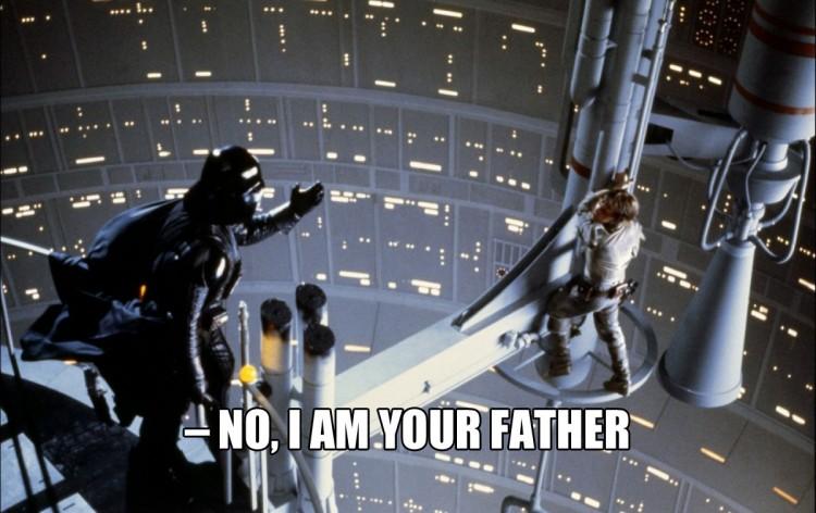 HUSK ALLTID: Darth Vader sier IKKE «Luke, I am your father». (Foto: Lucasfilm)