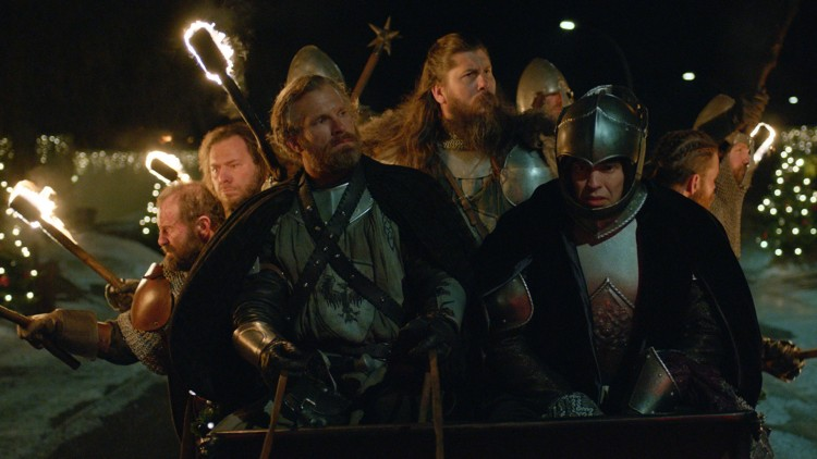 André Eriksen, Kalle Hennie og Kyrre Hellum i Julekongen - Full rustning (Foto: Nordisk Film Distribusjon AS/ Storm Films AS).