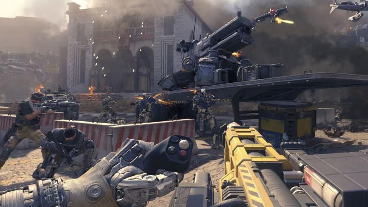 Det er ikke bare menneskelige fiender i Black Ops III. Det gir utslag på våpenutvalget. (Foto: Activision)
