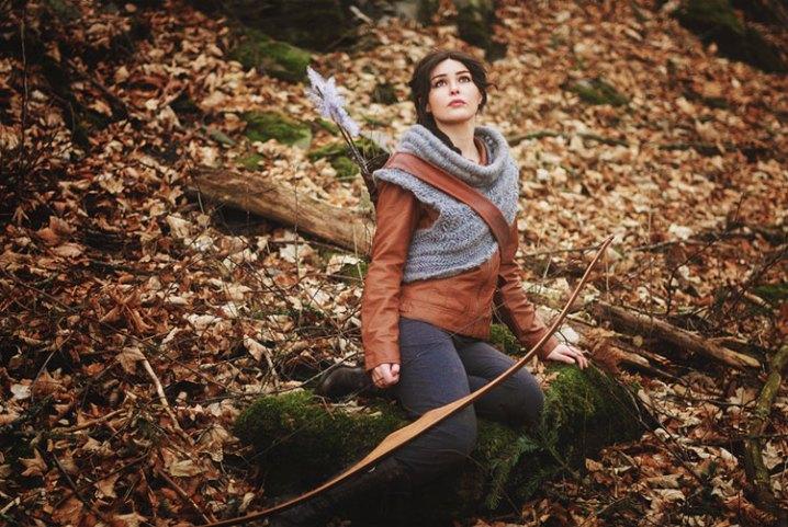 Kostymet fra starten av Catching Fire. (Foto: Ida Vesterelv, Starbit Cosplay).