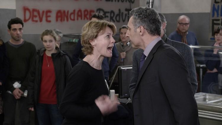 Margherita og Berry fyker i tottene på hverandre på filmsettet i Mia madre. (Foto: AS Fidalgo).