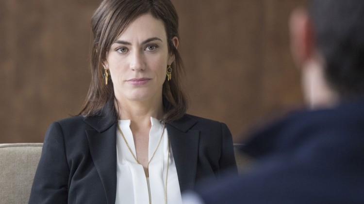 Maggie Siff spiller seriens mest interessante figur. (Foto: HBO Nordic).