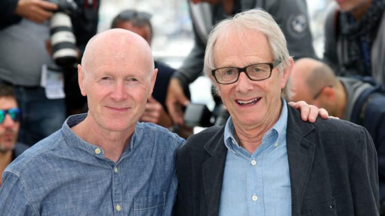 Manusforfatter Paul Laverty og regissør Ken Loach i Cannes (Foto: AP Photo/Joel Ryan).