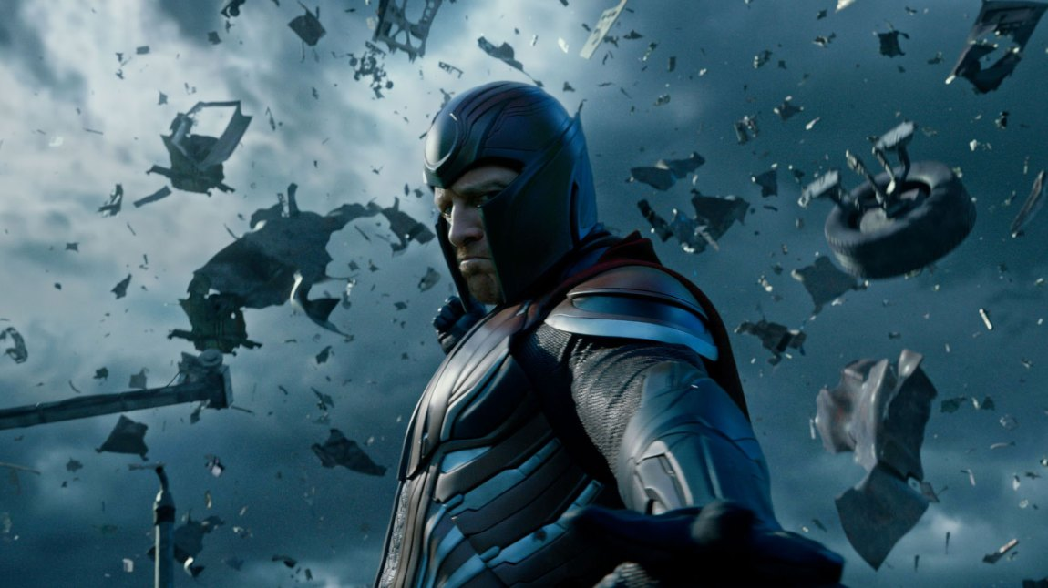 Magneto (Michael Fassbender) fjerner seg langt fra sine venner i X-Men: Apocalypse. (Foto: Twentieth Century Fox Norway)
