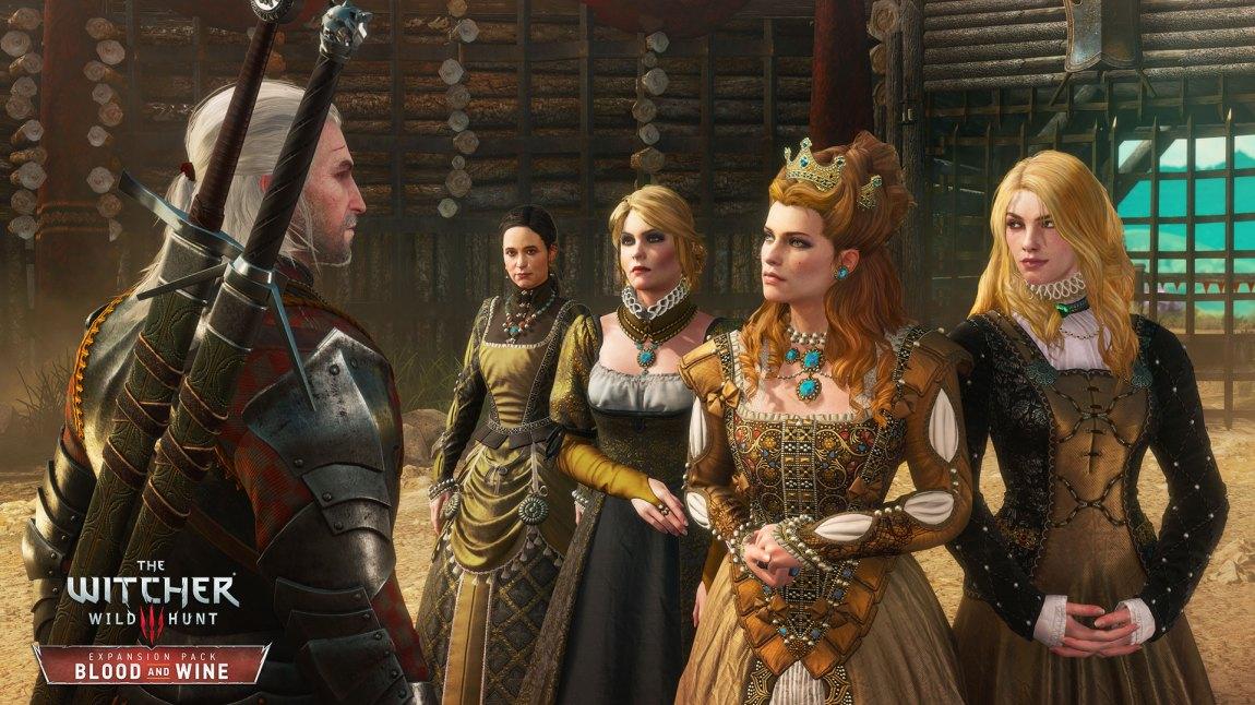 Anna Henrietta i møte med Geralt of Rivia i utvidelsespakken Blood and Wine til The Witcher 3. (Foto: CD Projekt RED)