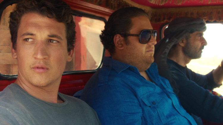 David (Miles Teller) og Efraim (Jonah Hill) må smugle våpen over grensa til Irak i War Dogs (Foto: SF Studios).